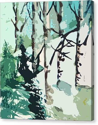 Snowbound Canvas Print by Mindy Newman