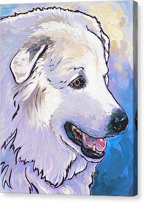 Snowdoggie Canvas Print by Nadi Spencer