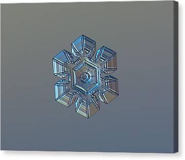 Snowflake Photo - Winter Technologies Canvas Print by Alexey Kljatov