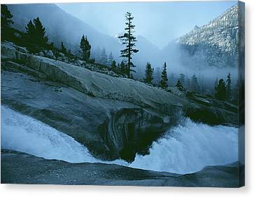 Snowmelt Thunders Down Woods Creek High Canvas Print by Sam Abell