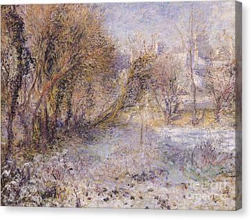 Snowy Landscape Canvas Print by Pierre Auguste Renoir