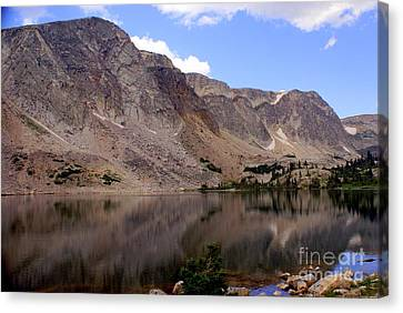 Snowy Mountain Loop 4 Canvas Print by Marty Koch