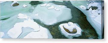 Snowy River In New Hampshire Canvas Print by Panoramic Images