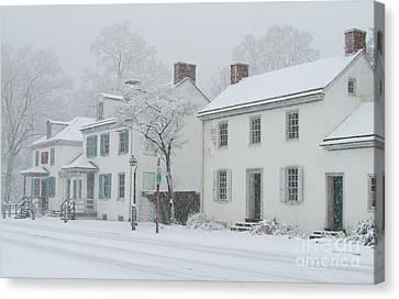 Snowy Washington Crossing Canvas Print by Anne Ditmars