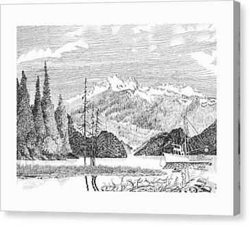 Alaskan Snug Harbor Anchorage Canvas Print by Jack Pumphrey
