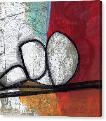 So We Begin- Abstract Art Canvas Print by Linda Woods