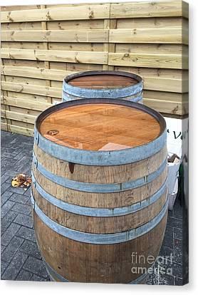 Soaked Barrels Canvas Print by Evan N