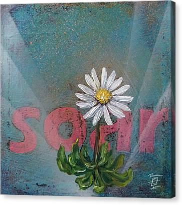 Soar Daisy Canvas Print by Andrea LaHue