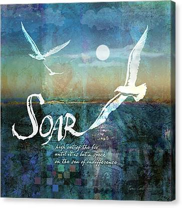 Soar Canvas Print by Evie Cook