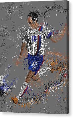 Soccer Canvas Print by Danielle Kasony