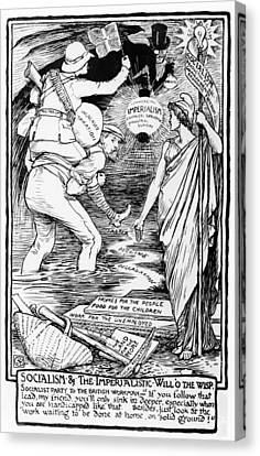 Socialism And The Imperialistic Will O The Wisp Canvas Print by Walter Crane