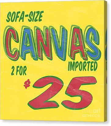Sofa Size Canvas Canvas Print by Edward Fielding