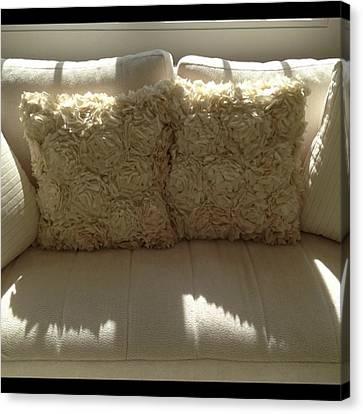 Sofa Canvas Print featuring the photograph Sofa With Pillows #juansilvaphotos by Juan  Silva