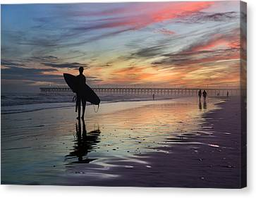 Surfing The Shadows Of Light Canvas Print by Betsy C Knapp
