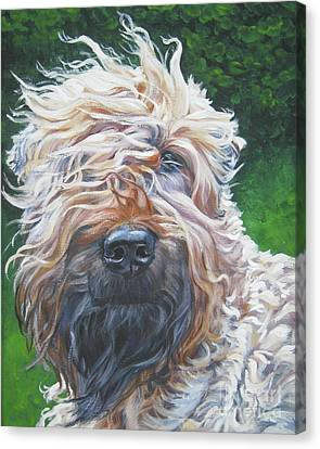 Soft Coated Wheaten Terrier Canvas Print by Lee Ann Shepard