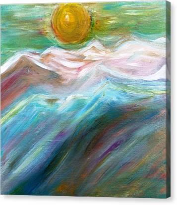 Soft Moon Night Canvas Print by Amy Drago
