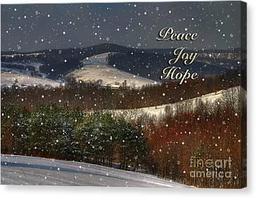 Soft Sifting Christmas Card Canvas Print by Lois Bryan