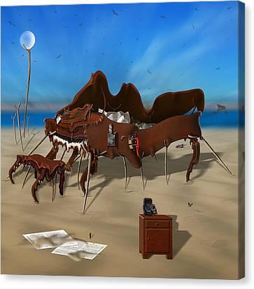 Softe Grand Piano Se Sq Canvas Print by Mike McGlothlen