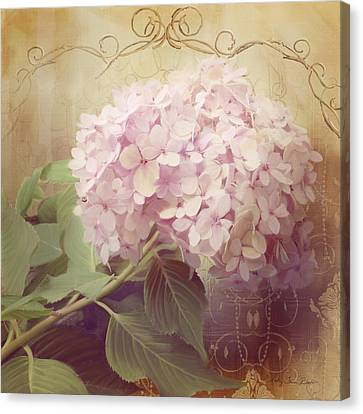 Softly Summer - Hydrangea 2 Canvas Print by Audrey Jeanne Roberts