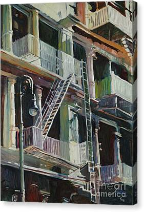Soho Fire Escapes Canvas Print by Patti Mollica