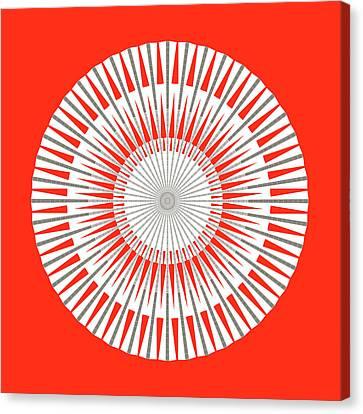 Solar Deities Medallion 3 Canvas Print by Stephanie Brock