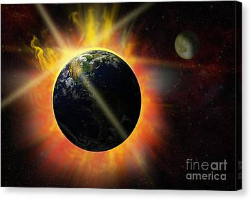 Solar Flare Canvas Print by Michal Boubin