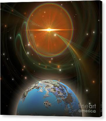 Solar Message Canvas Print by Corey Ford