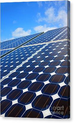 Solar Pannel Canvas Print by Carlos Caetano