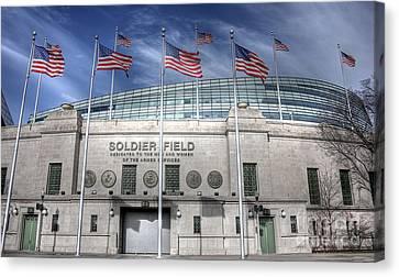 Soldier Field Canvas Print by David Bearden