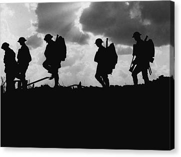 Soldier Silhouettes - Battle Of Broodseinde  Canvas Print by War Is Hell Store