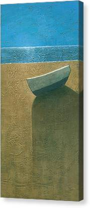 Solitary Boat Canvas Print by Steve Mitchell