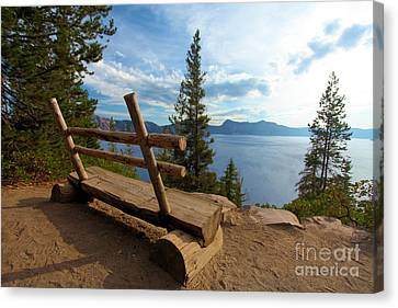 Solitude At Crater Lake Canvas Print by Adam Jewell