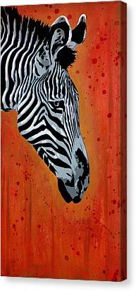 Solitude In Stripes Canvas Print by Tai Taeoalii