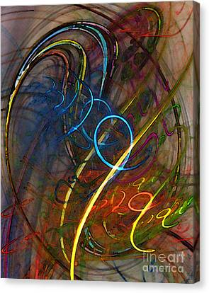Some Critical Remarks Abstract Art Canvas Print by Karin Kuhlmann