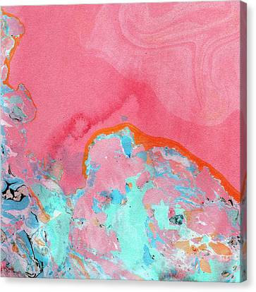 Somewhere New- Abstract Art By Linda Woods Canvas Print by Linda Woods