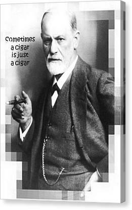 Sometimes A Cigar Is Just A Cigar Canvas Print by Tracey Harrington-Simpson