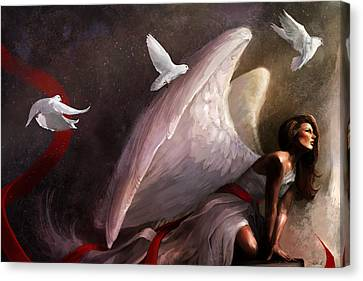 Sometimes They Weep Canvas Print by Steve Goad