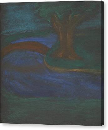 Somewhere At Night Canvas Print by Alexandra Mallory