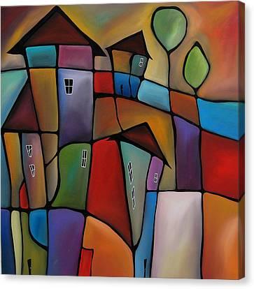 Somewhere Else - Abstract Pop Art By Fidostudio Canvas Print by Tom Fedro - Fidostudio