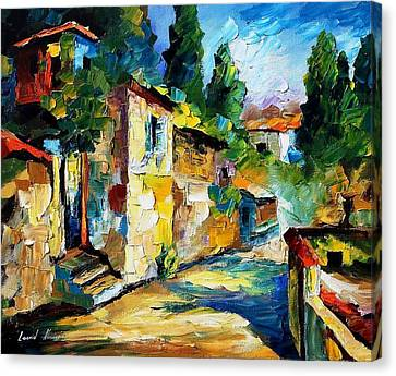 Somewhere In Israel - Palette Knife Oil Painting On Canvas By Leonid Afremov Canvas Print by Leonid Afremov