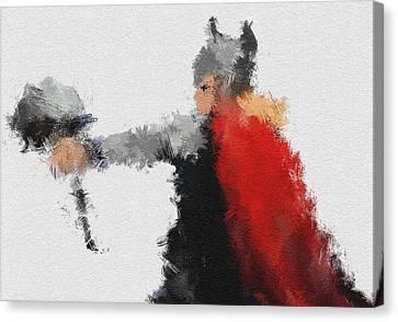 Son Of Asgard Canvas Print by Miranda Sether