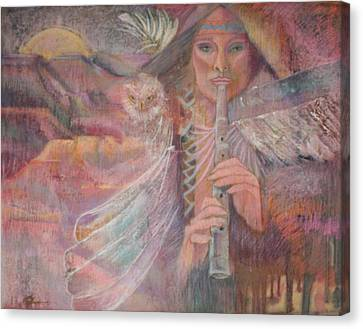 Song Of Our Sacred Dreaming Canvas Print by Pamela Mccabe