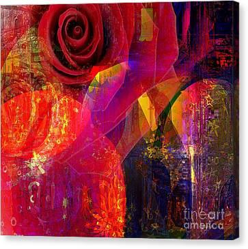 Song Of Solomon - Rose Of Sharon Canvas Print by Fania Simon