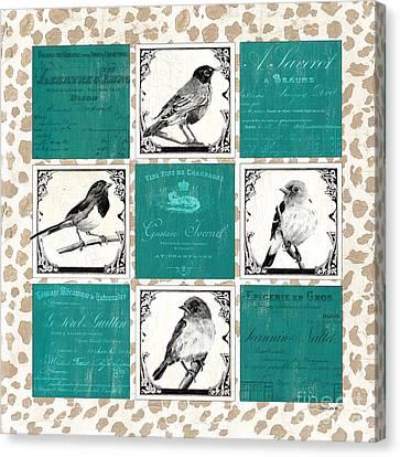 Songbird Cheetah Patch Canvas Print by Debbie DeWitt