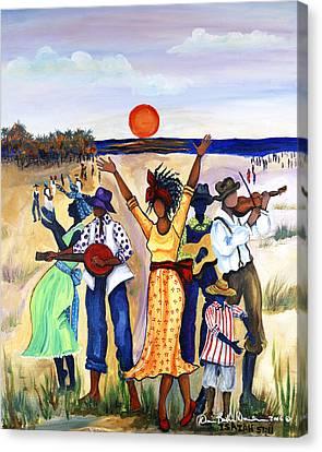 Songs Of Zion Canvas Print by Diane Britton Dunham
