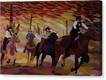 Sonoran Riders Canvas Print by Lowell Smith