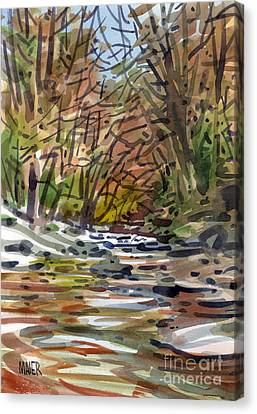Sope Creek Five Canvas Print by Donald Maier