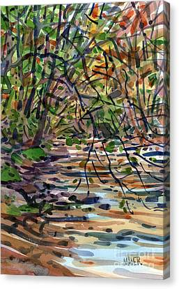Sope Creek Four Canvas Print by Donald Maier