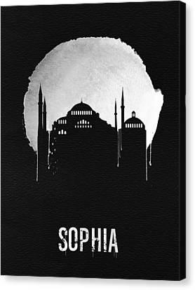 Sophia Landmark Black Canvas Print by Naxart Studio