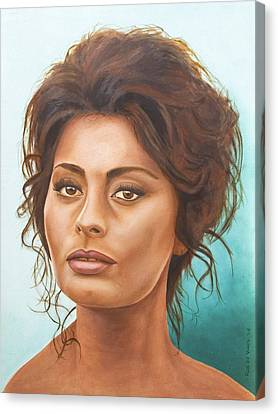 Sophia Loren Canvas Print by Rob De Vries